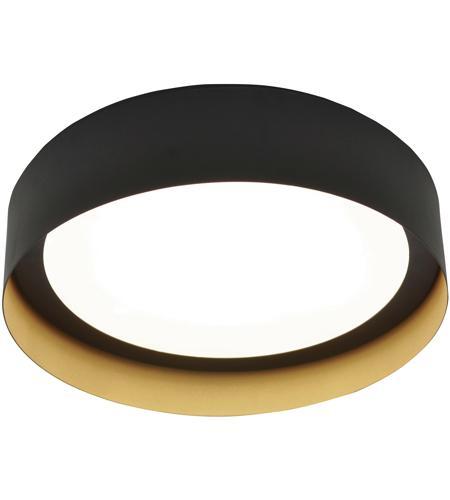Afx Rvf162600l30d1bkgd Reveal Led 16 Inch Black And Gold Flush Mount Ceiling Light Photo