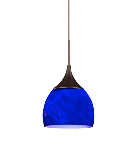 AFX SXPL45027BURBD1 Essex LED 5 inch Oil-Rubbed Bronze Mini Pendant Ceiling Light in Blue, 2700K, 120 photo