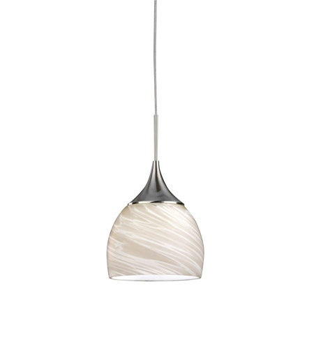 AFX SXPL45040WHSN Essex LED 5 inch Satin Nickel Mini Pendant Ceiling Light in White, 4000K, 120-277 photo