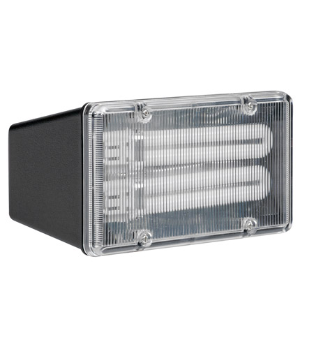 AFX Lighting TPDW Series 2 Light Outdoor Fluorescent Flood light in Black with Clear Lexan Lens TPDW213BKPLT photo