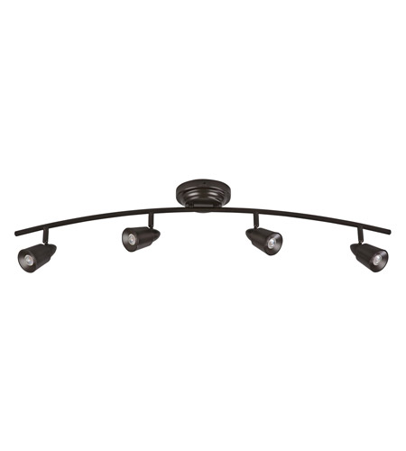AFX TRR Series 4 Light LED Fixed Track in Oil-Rubbed Bronze TRRF4200LEDRB3K photo