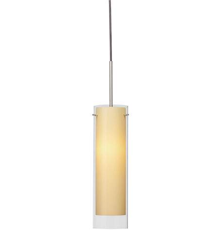AFX Lighting View 1 Light Pendant in Satin Nickel with Cream Frosted  Glass VIP118SNSCT-CR photo
