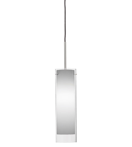 AFX Lighting View 1 Light Pendant in Satin Nickel with White Frosted  Glass VIP118SNSCT-WH photo