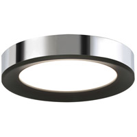 Alta 1 Light 12 inch Black and Chrome Flush Mount Ceiling Light