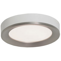 Alta 1 Light 12 inch Satin Nickel and White Flush Mount Ceiling Light
