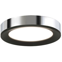 Alta 1 Light 16 inch Black and Chrome Flush Mount Ceiling Light