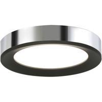AFX AAF162600L30D1BKPC Alta LED 16 inch Black and Polished Chrome Flush Mount Ceiling Light