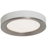 Alta 1 Light 16 inch Satin Nickel and White Flush Mount Ceiling Light