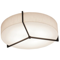Apex 1 Light 17 inch Espresso Flush Mount Ceiling Light