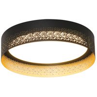 AFX ASHF1214L30D1BK Ash LED 12 inch Black and Gold Flush Mount Ceiling Light