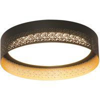 AFX ASHF1626L30D1BK Ash LED 16 inch Black and Gold Flush Mount Ceiling Light