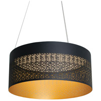 Ash LED 20 inch Black Pendant Ceiling Light