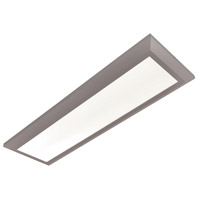 Atlas 1 Light 15 inch Satin Nickel Linear Flush Mount Ceiling Light