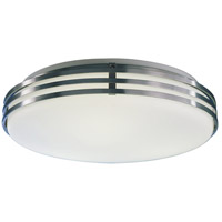 Bilbao LED 14 inch Satin Aluminum Flush Mount Ceiling Light in 13