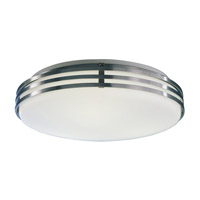 Bilbao 2 Light 17 inch Satin Aluminum Flush Mount Ceiling Light in 18