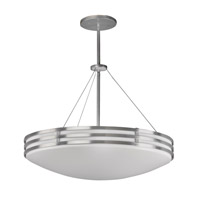 Bilbao 4 Light 25 inch Satin Aluminum Pendant Ceiling Light