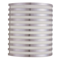 AFX Bilbao 1 Light Wall Sconce in Satin Aluminum BBS10111400L30D2SA