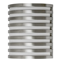 AFX Lighting Bilbao 1 Light Outdoor Sconce in Satin Aluminum BBW113SAEC-PC