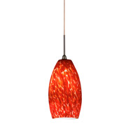 Bella LED 3 inch Oil-Rubbed Bronze Mini Pendant Ceiling Light in Red, 120-277, 4000K
