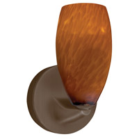 Bella LED 5 inch Oil-Rubbed Bronze Mini Sconce Wall Light in Amber