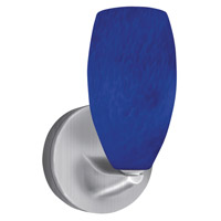 Bella LED 5 inch Satin Nickel Mini Sconce Wall Light in Blue