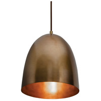 Brooklyn 1 Light 10 inch Antique Brass Pendant Ceiling Light