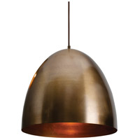 Brooklyn 1 Light 16 inch Antique Brass Pendant Ceiling Light