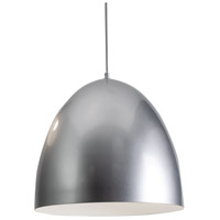 AFX BKNP16SL Brooklyn 1 Light 16 inch Silver Pendant Ceiling Light