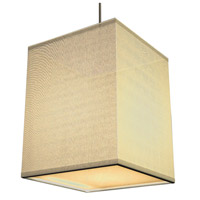 AFX Lighting Baker 1 Light Pendant in Satin Nickel with Cream Fabric Shade BKP118SNSCT-CR