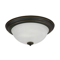 AFX Lighting C6000 Series 2 Light Flush Mount in Oil-rubbed Bronze C6218RBSCT