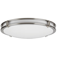 Carlisle LED 14 inch Satin Nickel Flush Mount Ceiling Light
