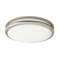 AFX Cashel 1 Light Flush Mount in Satin Nickel CCF121200L30D1SN