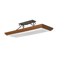 AFX Lighting Chesterfield 4 Light Decorative Suspended Linear in Oak CHL432DKR8