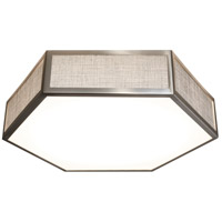 AFX CLAF1418LAJD1SNGY Clara LED 14 inch Satin Nickel Flush Mount Ceiling Light