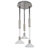 AFX CNP Series 3 Light LED Pendant in Satin Nickel CNP340027LSNCWH