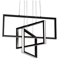 AFX COLP24L30D1BK Cole LED 24 inch Black Pendant Ceiling Light