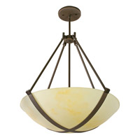 AFX Lighting Carson 4 Light Pendant in Oil-rubbed Bronze CRP418RBMV