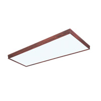 AFX Lighting Traditional Wood Molding 2 Light Decorative Flush Linear in Cherry CTC232R8