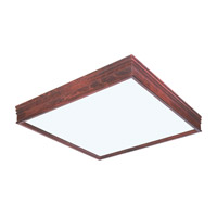 AFX Lighting Traditional Wood Molding 2 Light Decorative Flush Linear in Cherry CTC2U3R8