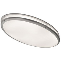 Covina 2 Light 17 inch Satin Nickel Flush Mount Ceiling Light