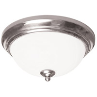 AFX Canterbury 1 Light Flush Mount in Satin Nickel CYF11118GU27SN