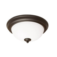 AFX Canterbury 1 Light Flush Mount in Rubbed Bronze CYF111200L30D1RB