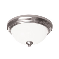 AFX Canterbury 1 Light Flush Mount in Satin Nickel CYF11126GU27SN