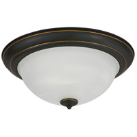 AFX Canterbury 2 Light Flush Mount in Oil Rubbed Bronze CYF15218GU27RB
