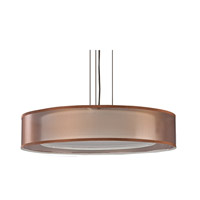 Cortez 4 Light 24 inch Oakley Bronze Pendant Ceiling Light in Bronze/White