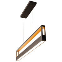 AFX ECHP4830LAJMVBK Echo LED 45 inch Black Linear Pendant Ceiling Light
