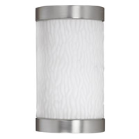 AFX Lighting Fusion 1 Light Outdoor Sconce in Satin Nickel FUW113SNEC-PC