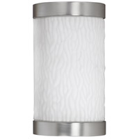 Fusion 1 Light 10 inch Satin Nickel Outdoor Sconce in 13