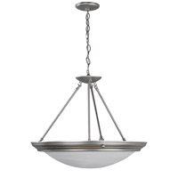 AFX Lighting Duomo 3 Light Pendant in Brushed Nickel H7313BNSCT