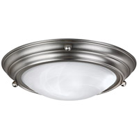AFX Lighting HF Series 2 Light Flush Mount in Brushed Nickel HF6213BNSCT